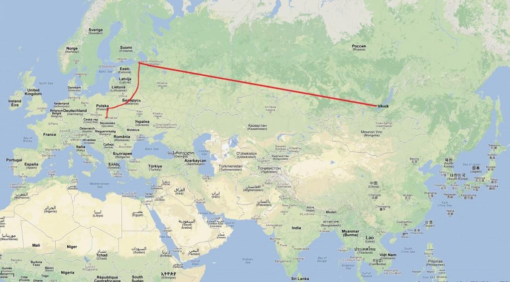 Nie wszyscy z nas przyznali się w domu, że lecimy na Syberię. Część przyznała się tylko do Petersburga :)
