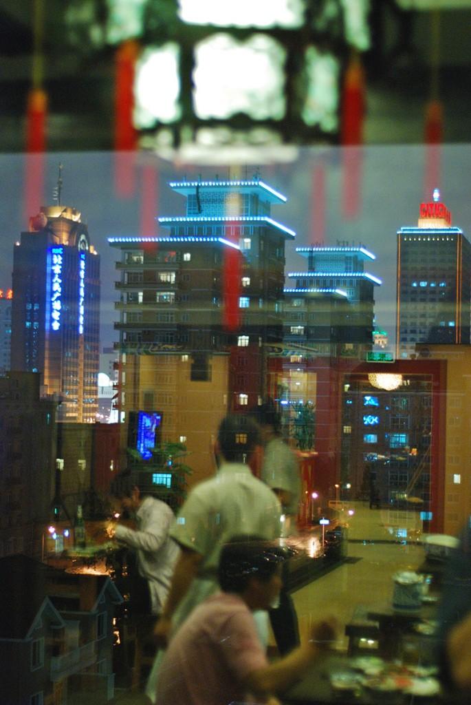 Widok na nocny Pekin