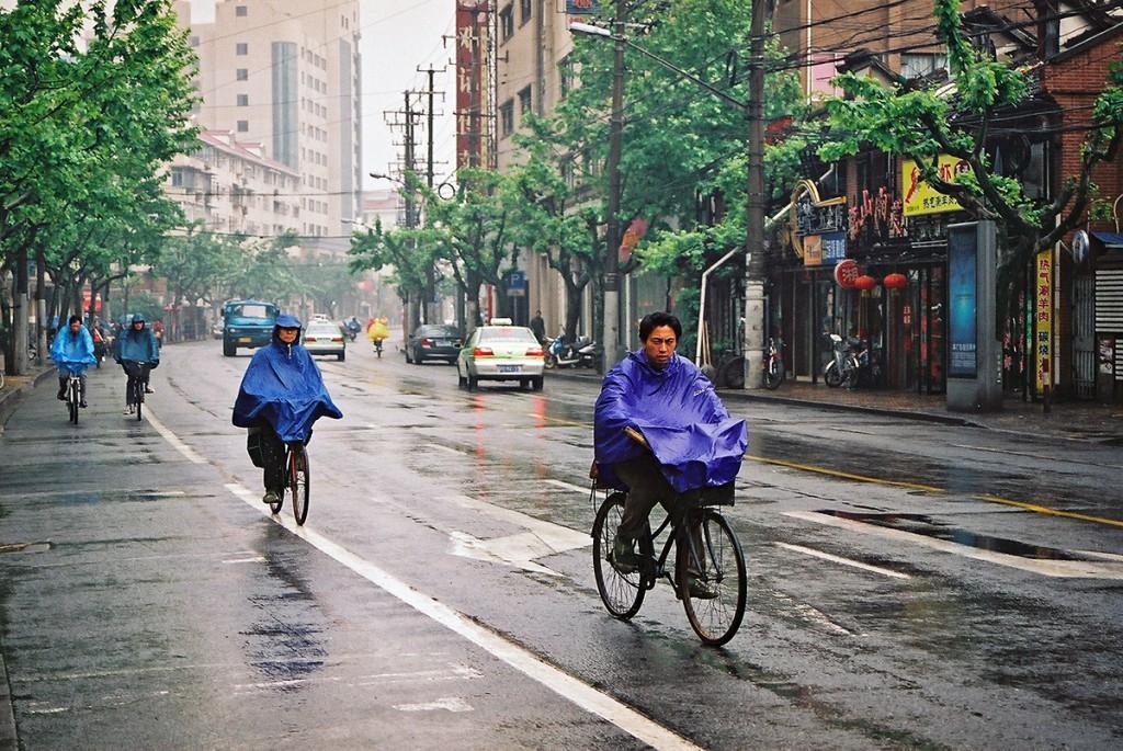 Deszczowy poranek w Szanghaju