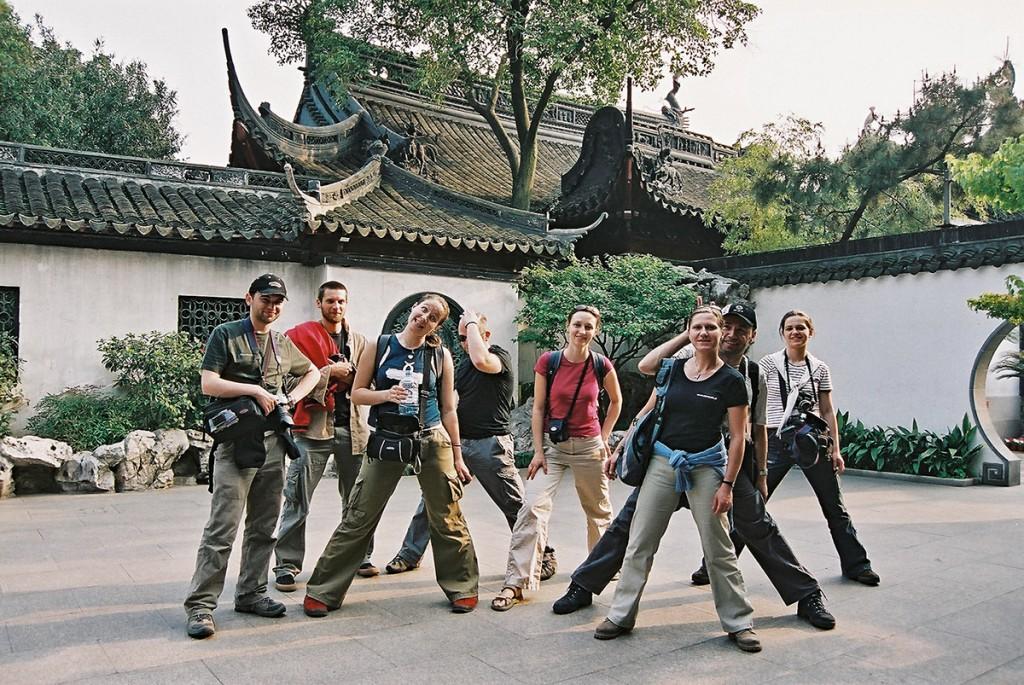Nasza grupa w Szanghaju. Tym razem blogerka po drugiej stronie obiektywu