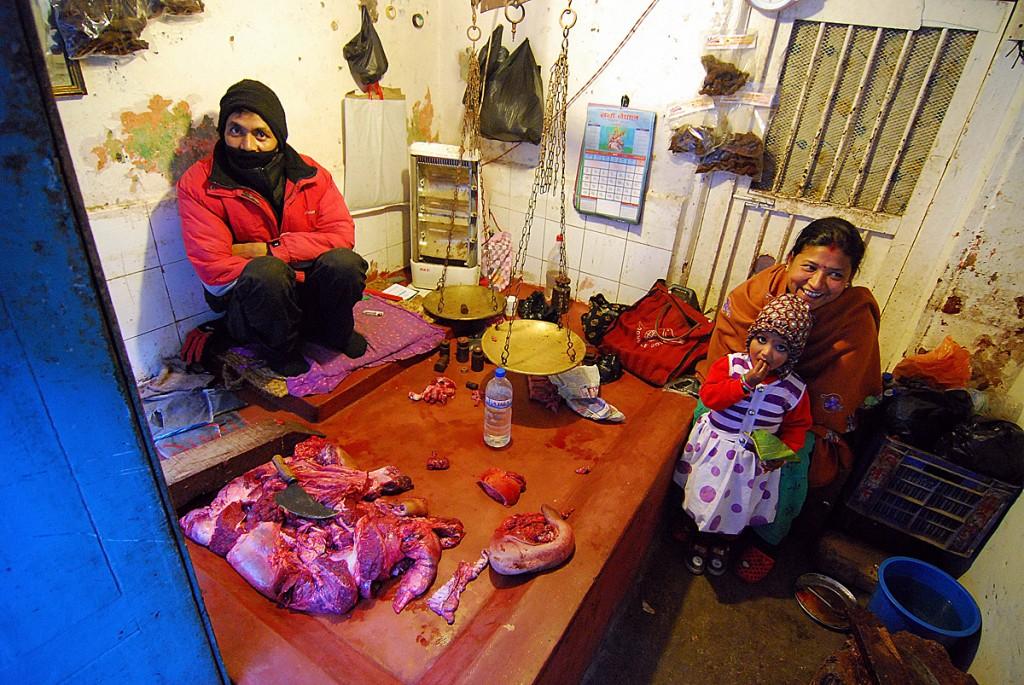 Mięsny w Katmandu
